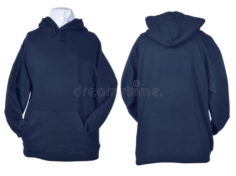 Two side of wrinkled blue black shirts stock image