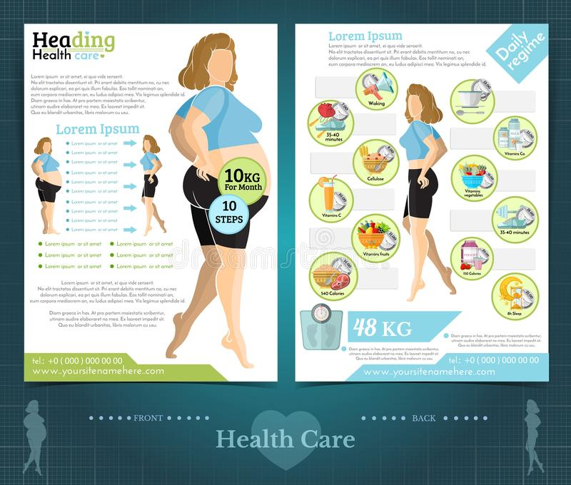 Brochure Template For Health Care Company Stock Vector