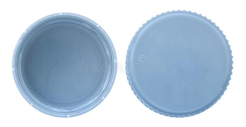 Isolated Silver Platic Bottle Cap Both Sides Stock Photo