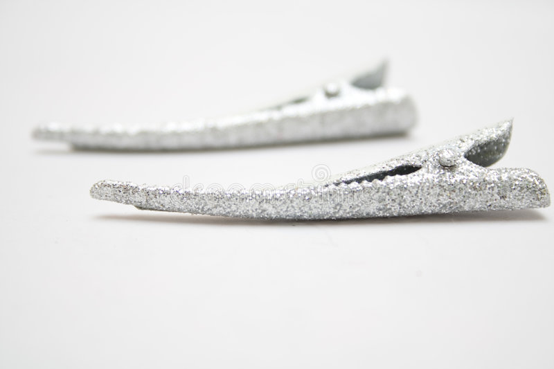 Two Silver Hair-pin Stock Photo