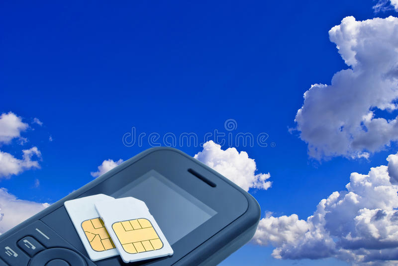 Download Two sim card. stock photo. Image of abonent, connection - 12010698