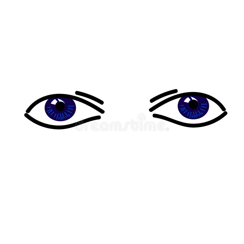 Two simple abstract bllue eyes royalty free stock photography