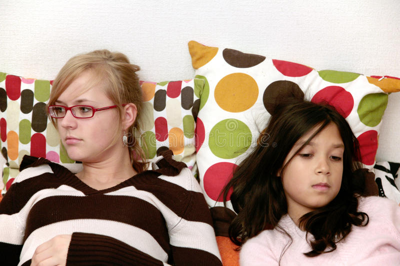 Download Two sisters stock photo. Image of relations, schoolar - 12594862