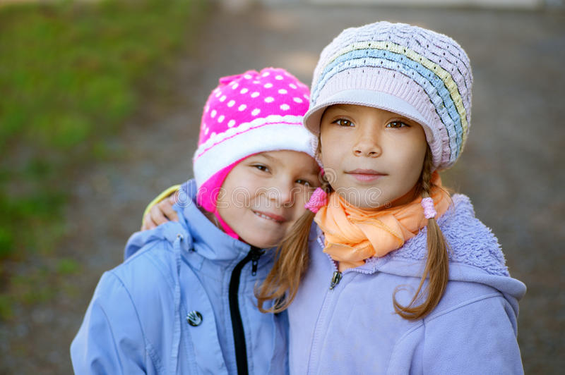 Two Sisters-in Close-up Stock Image