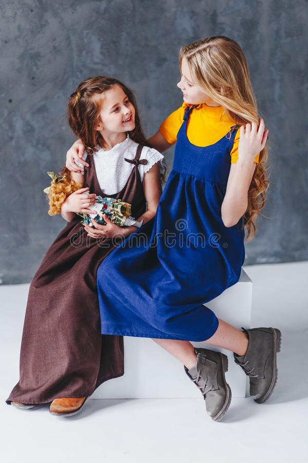 Free Two Sisters Having Fun. Togertherness And Love Concept Royalty Free Stock Images - 151437799