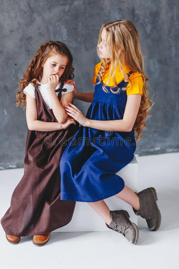 Free Two Sisters Having Fun. Togertherness And Love Concept Stock Image - 151437911