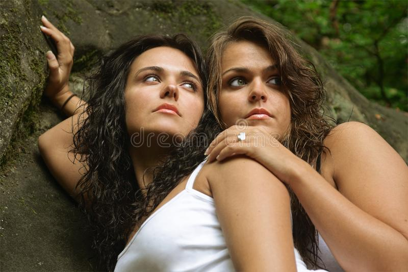 Download Two sisters in nature stock photo. Image of love, suntan - 4354660