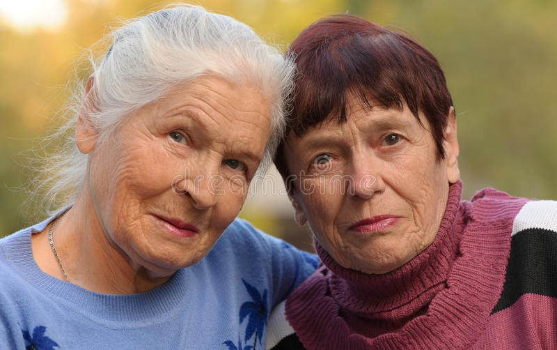 Download Two sisters of old age stock photo. Image of park, aged - 21376824