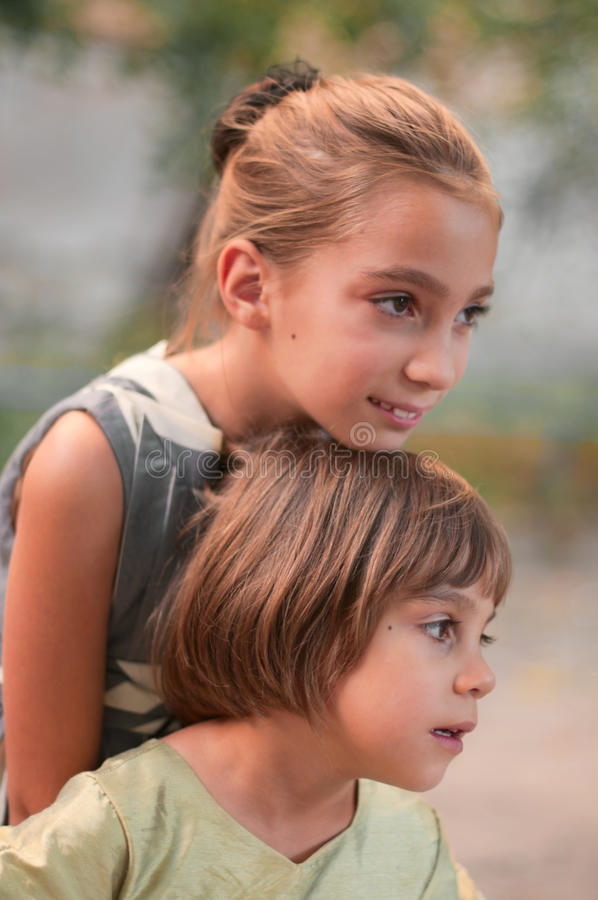 Download Two sisters outdoor stock photo. Image of person, harmony - 19547312