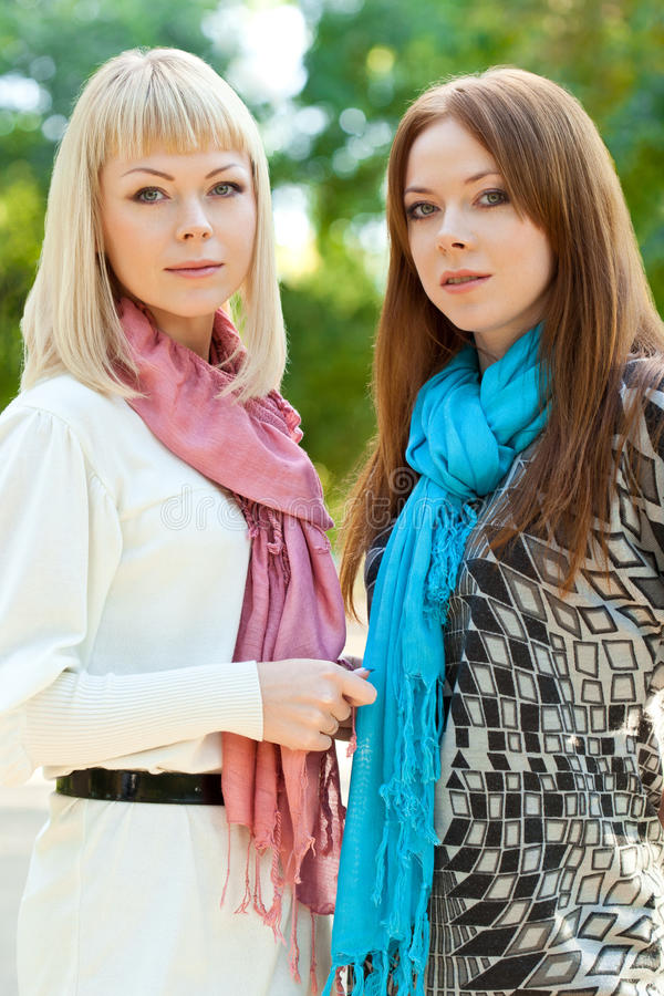 Download Two Sisters Standing In The Park Stock Photo - Image: 22713860