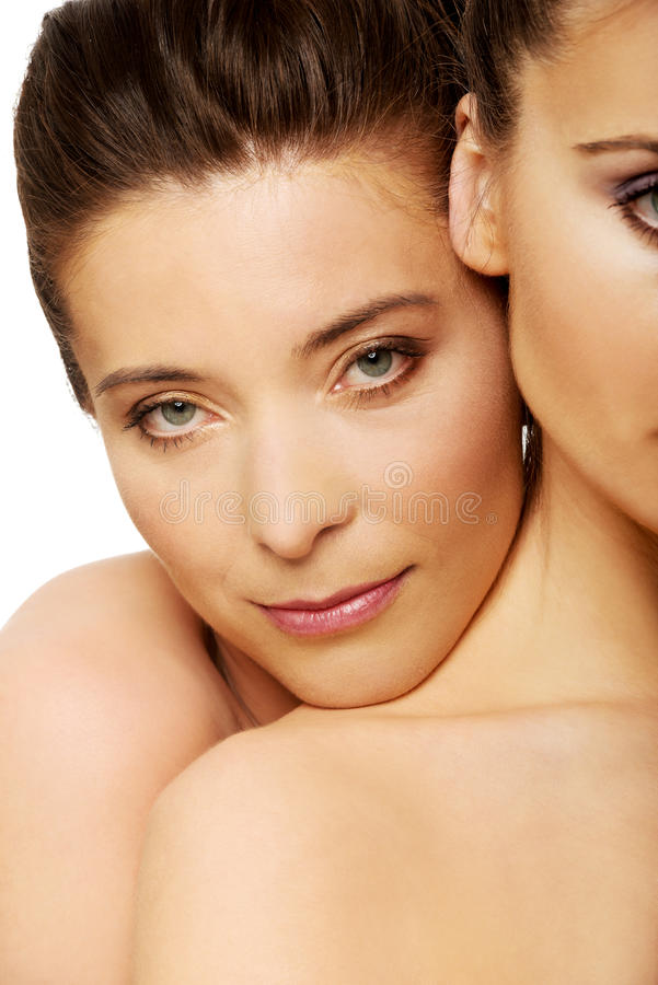 Free Two Sisters With Make Up. Royalty Free Stock Photo - 54281745
