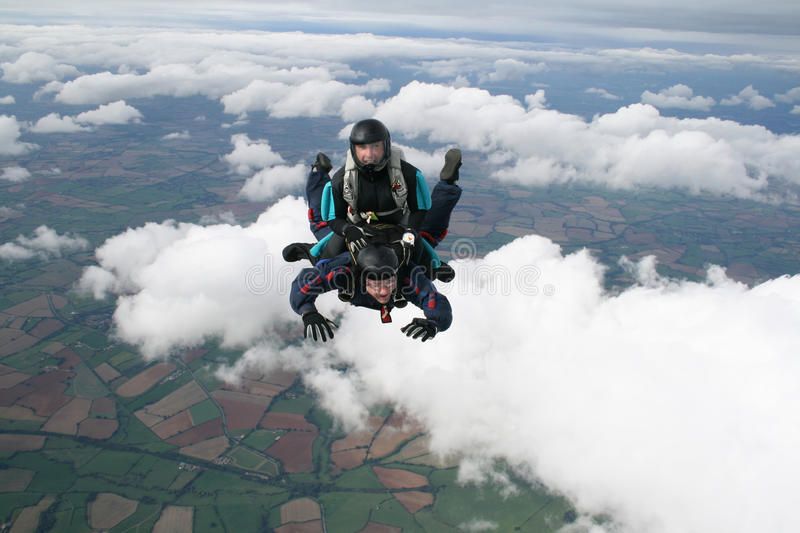 Download Two skydivers having fun stock photo. Image of diving - 16133380