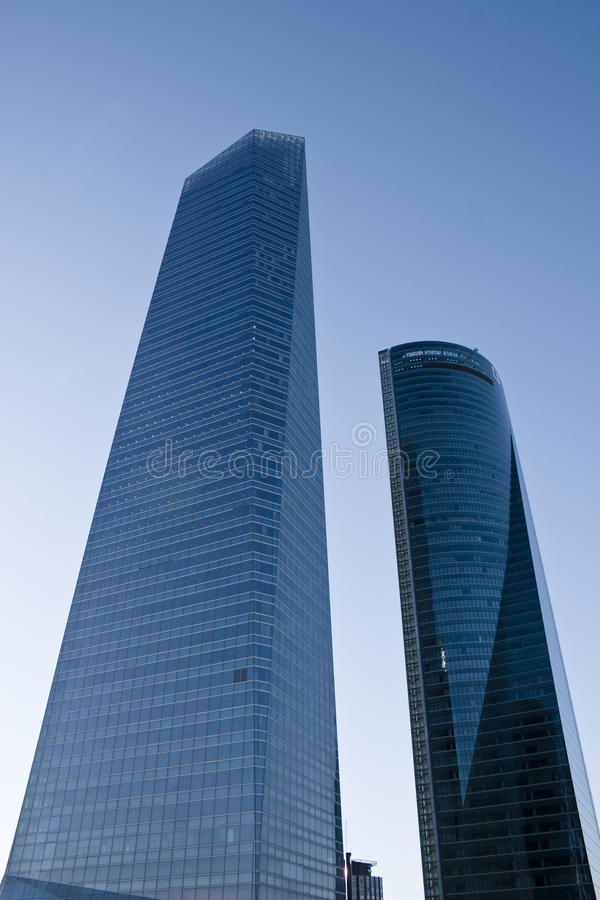 Two Skyscraper At Madrid On CTBA Royalty Free Stock Photos