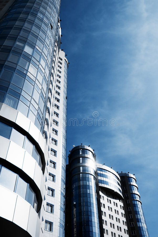 Two Skyscraper Perspective Royalty Free Stock Photo