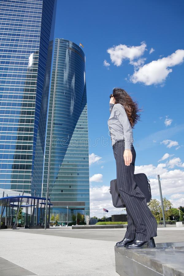 Download Two Skyscrapers And Businesswoman Stock Photo - Image: 20854144