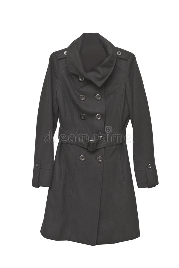 Two slided cashmere coat. With buttons stock photo