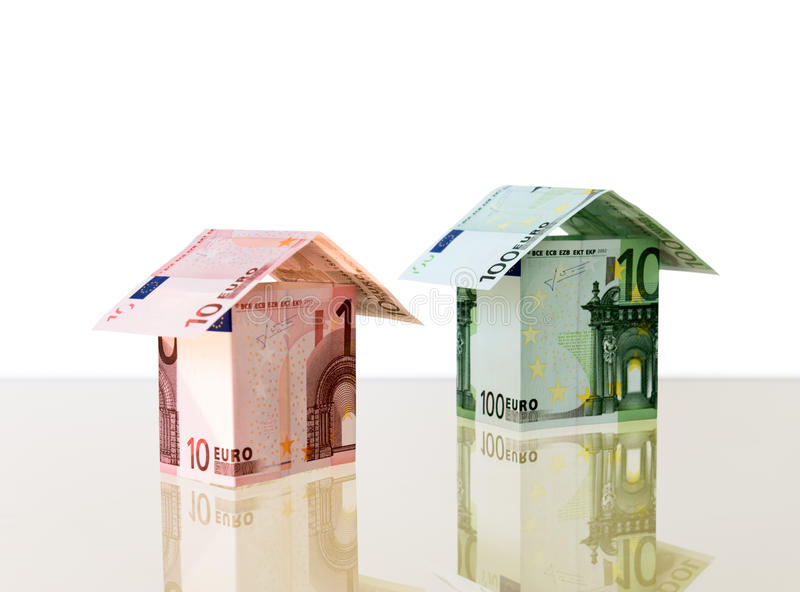 Two Small Houses From Euro Stock Photo