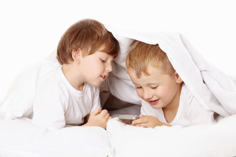 Two Small Rascals Stock Photo