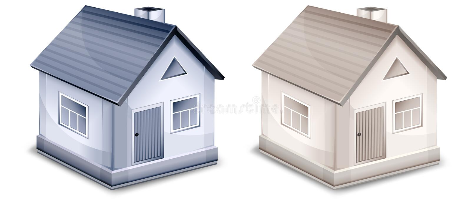 Download Two small village houses stock vector. Illustration of architecture - 18215741