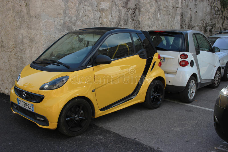 two smart fortwo editorial stock photo. image of cars - 69043903