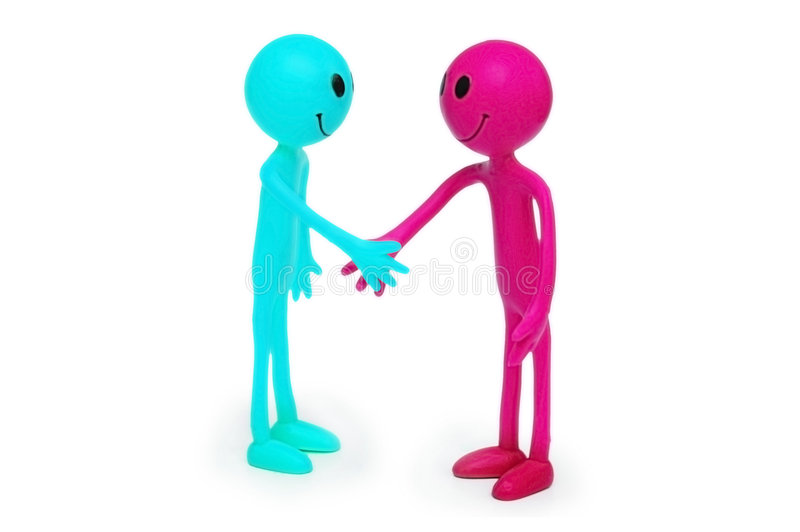Download Two smilies shaking hands stock image. Image of isolated - 7960641