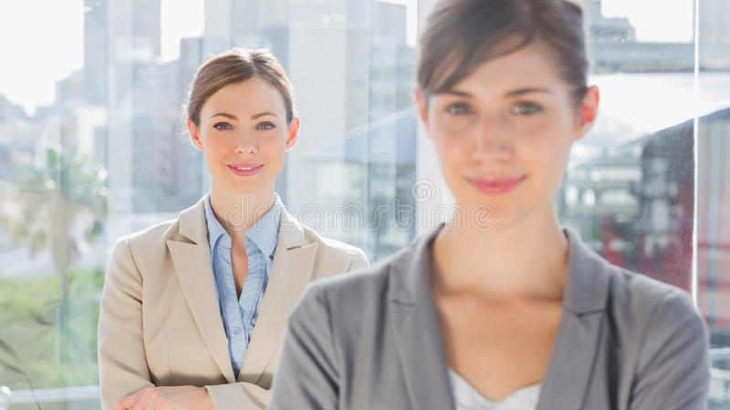 Download Two Smiling Businesswomen Looking At Camera Stock Image - Image: 31670235