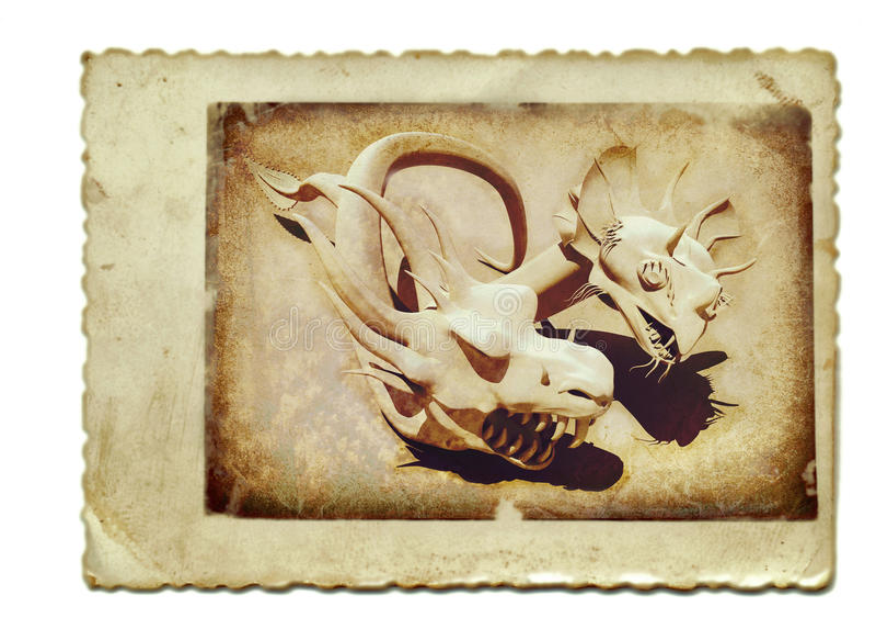 Download Two snake dragons 1 stock illustration. Image of grunge - 23018522