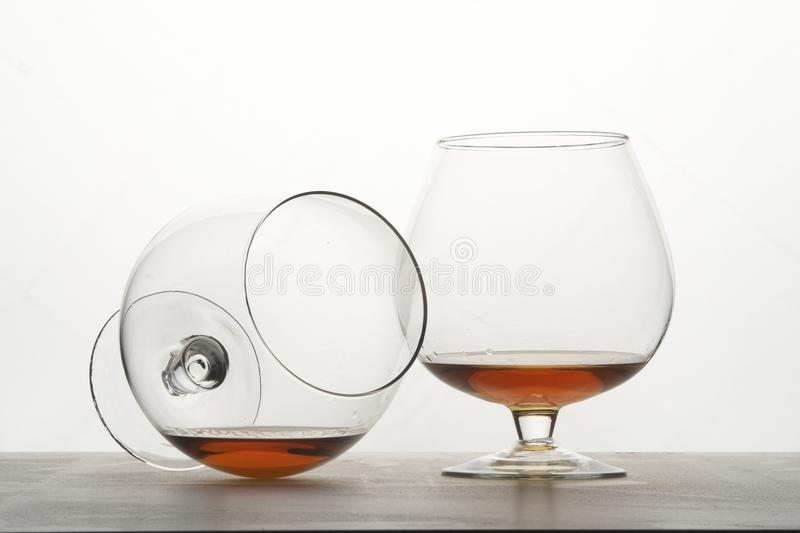 Download Two Snifters Of Cognac On Table. Stock Image - Image: 29020413