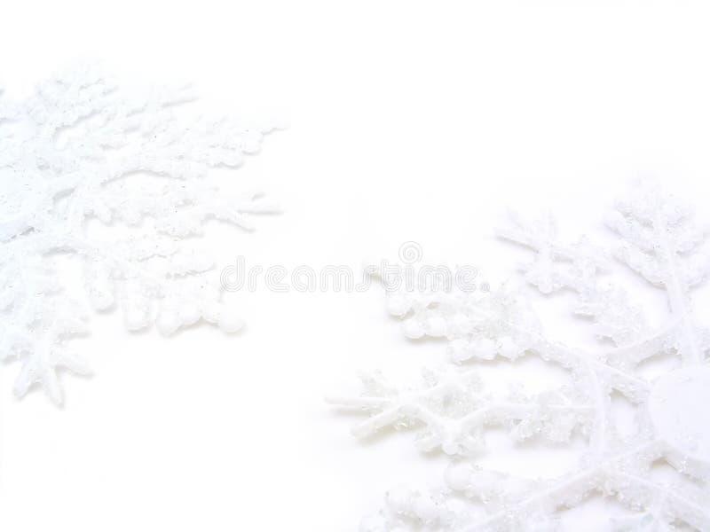 Two Snowflakes stock photos