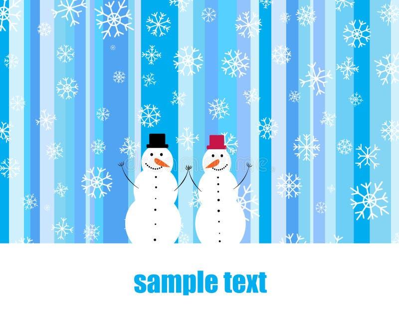 Download Two snowmen stock illustration. Illustration of draw - 23478454
