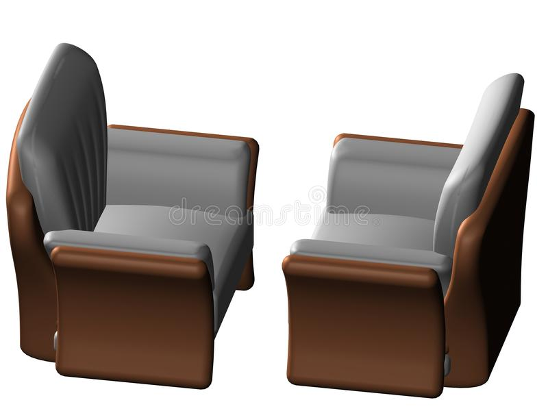 Two Sofa royalty free illustration