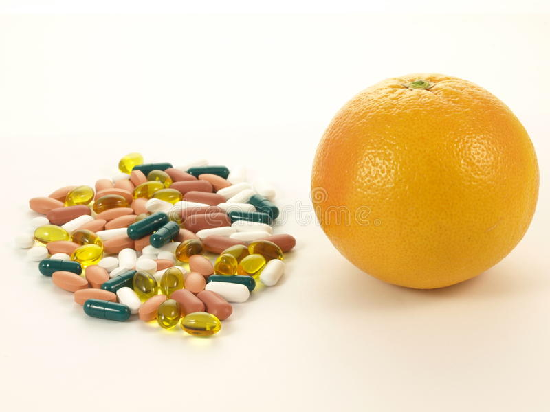 Download Two sources of vitamins, stock image. Image of capsules - 24452033
