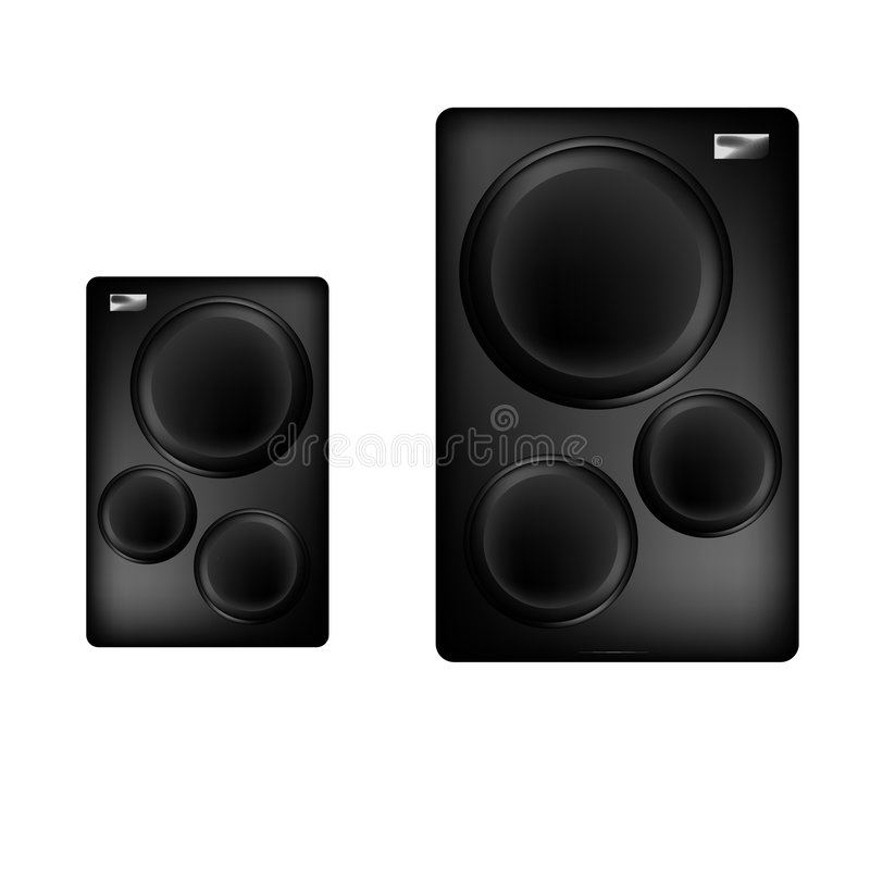 Download Two speakers stock illustration. Image of base, drawing - 498124