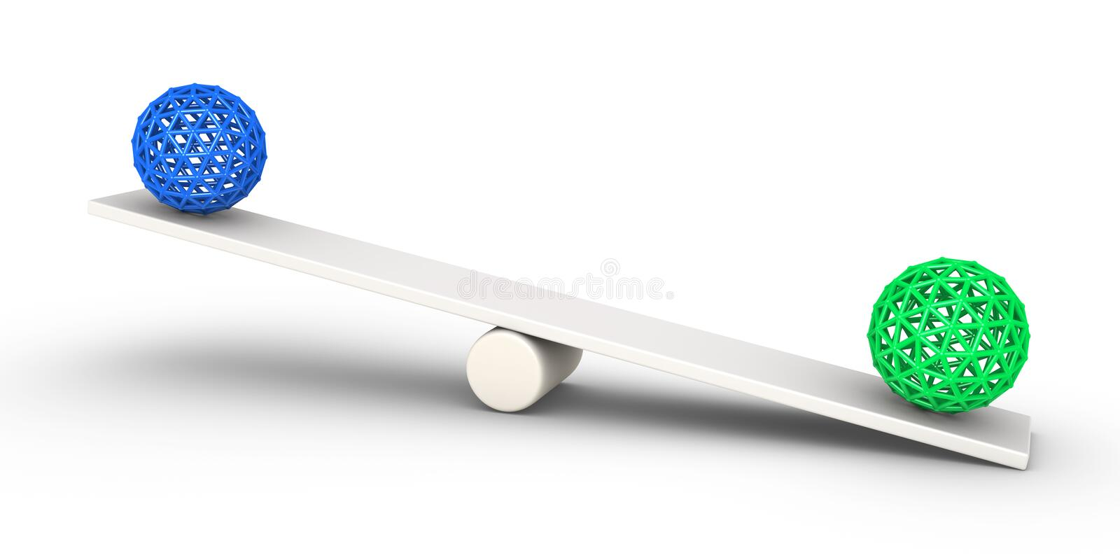 Download Two Spheres Balance Concept Stock Illustration - Image: 29483998