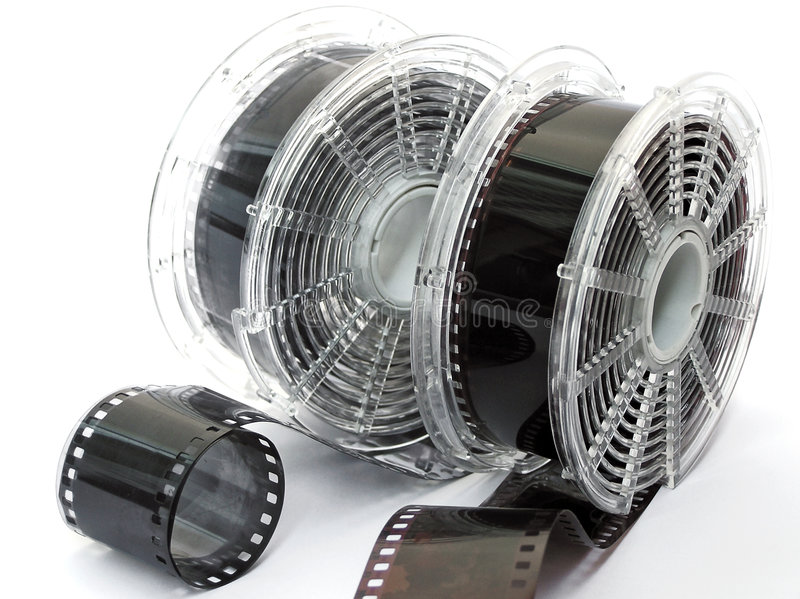 Two spools of film stock photography