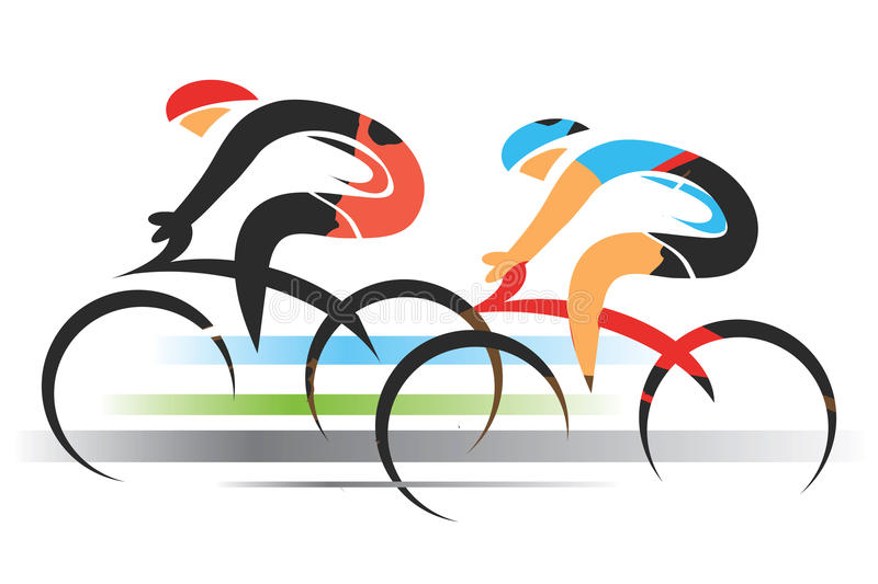 Two sport cyclists. stock illustration