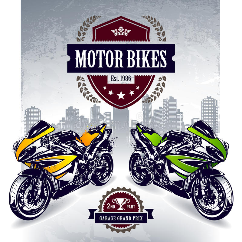 Free Two Sport Motorbikes Stock Photography - 31423512