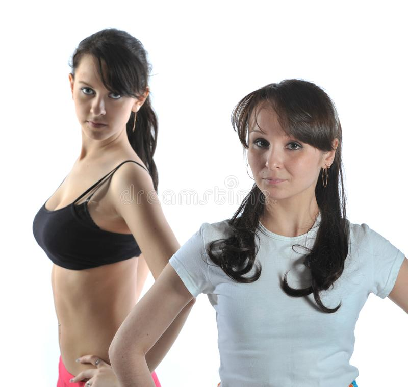 Download Two sporting girl stock photo. Image of exercise, muscular - 8857982