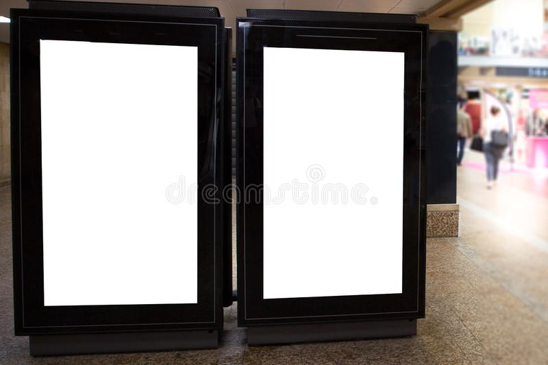 Two sreet station billboard blank poster for advertising panel space. A two sreet station billboard blank poster for advertising panel space royalty free stock photos