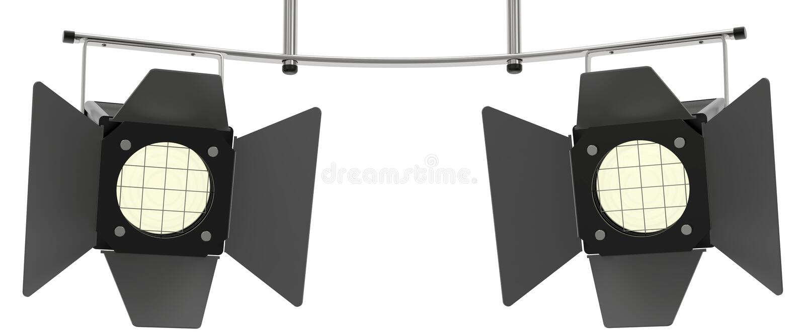 Download Two Stage Spotlights Looking To The Viewer Stock Illustration - Image: 21747577