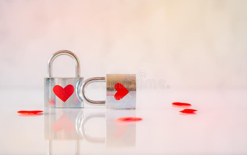 Two Stainless Steel Padlocks stock photography