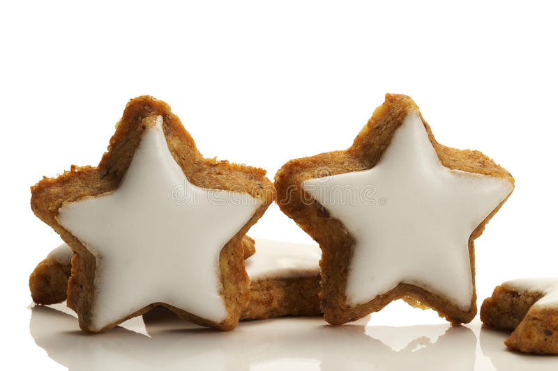 Download Two Standing Star Shaped Cinnamon Biscuits Stock Photo - Image: 16153586
