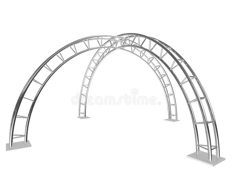 Two steel arch royalty free illustration