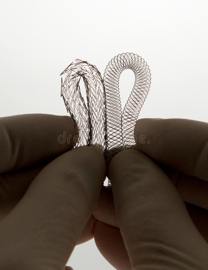 Two stents for endovascular surgery