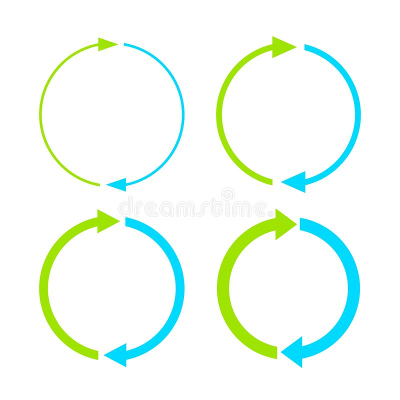 Two steps cycle arrow icon stock illustration