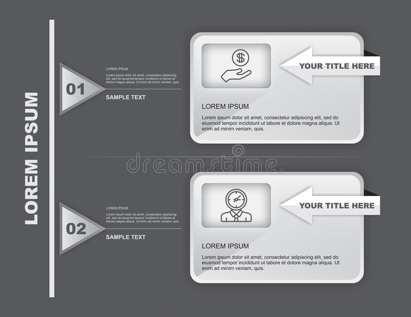 Two Steps Infographics royalty free stock images