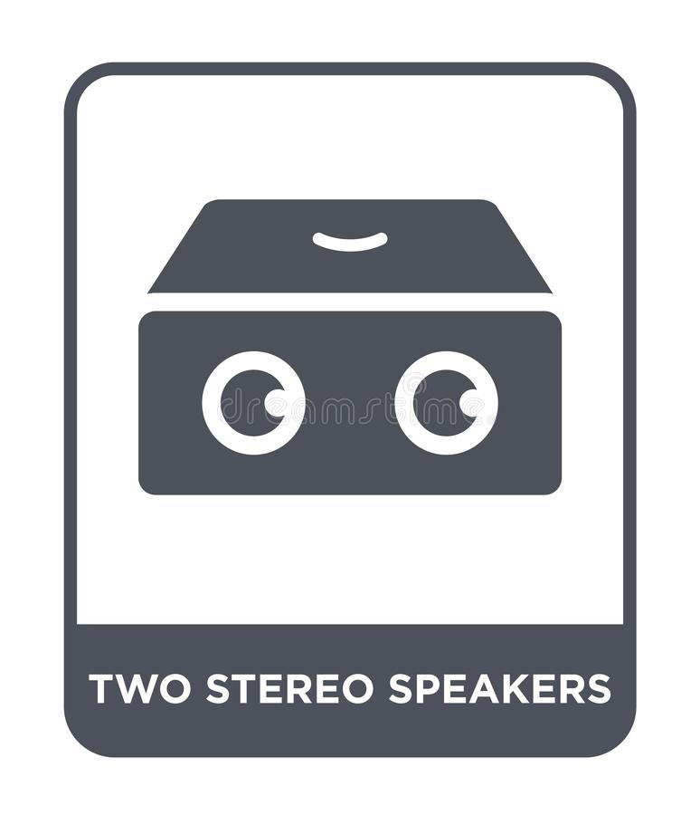 two stereo speakers icon in trendy design style. two stereo speakers icon isolated on white background. two stereo speakers vector vector illustration