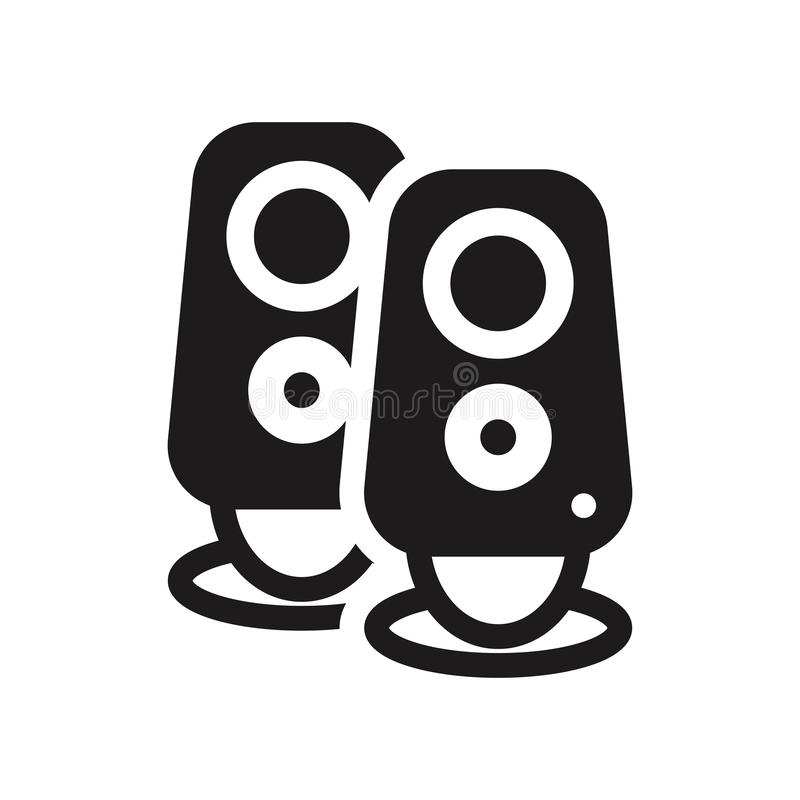Two Stereo Speakers icon. Trendy Two Stereo Speakers logo concept on white background from hardware collection royalty free illustration