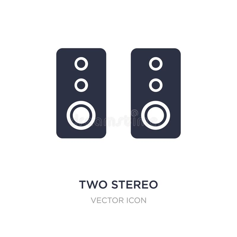 two stereo speakers icon on white background. Simple element illustration from Hardware concept royalty free illustration