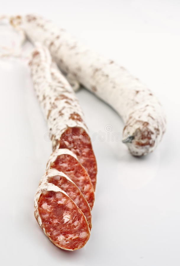 Two Sticks Of Fuetsausage Royalty Free Stock Images